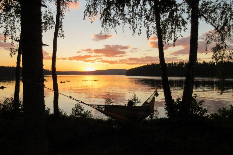 Solnedgång i hängmattan